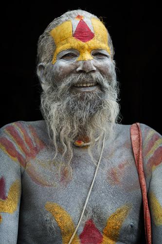 KATHMANDU - MAY 6: A sadhy at Pashupatinath Temple in Kathmandu,