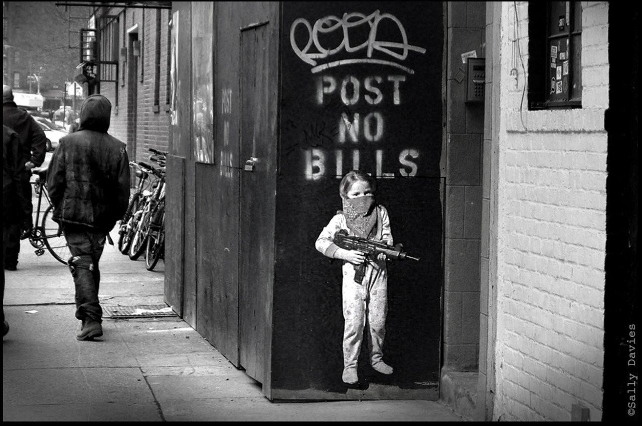 Poist No Bills Graffitti NYC Lower East Side E 4th St